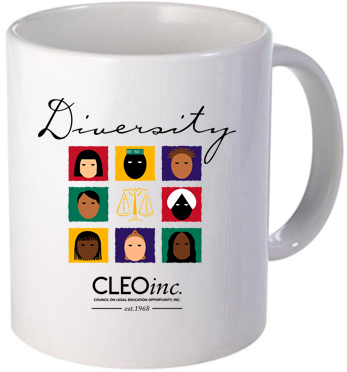 white printed coffee mug cleo diversity