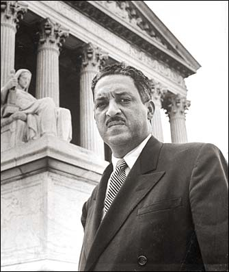 Thurgood Marshall, the first African American Supreme Court Justice