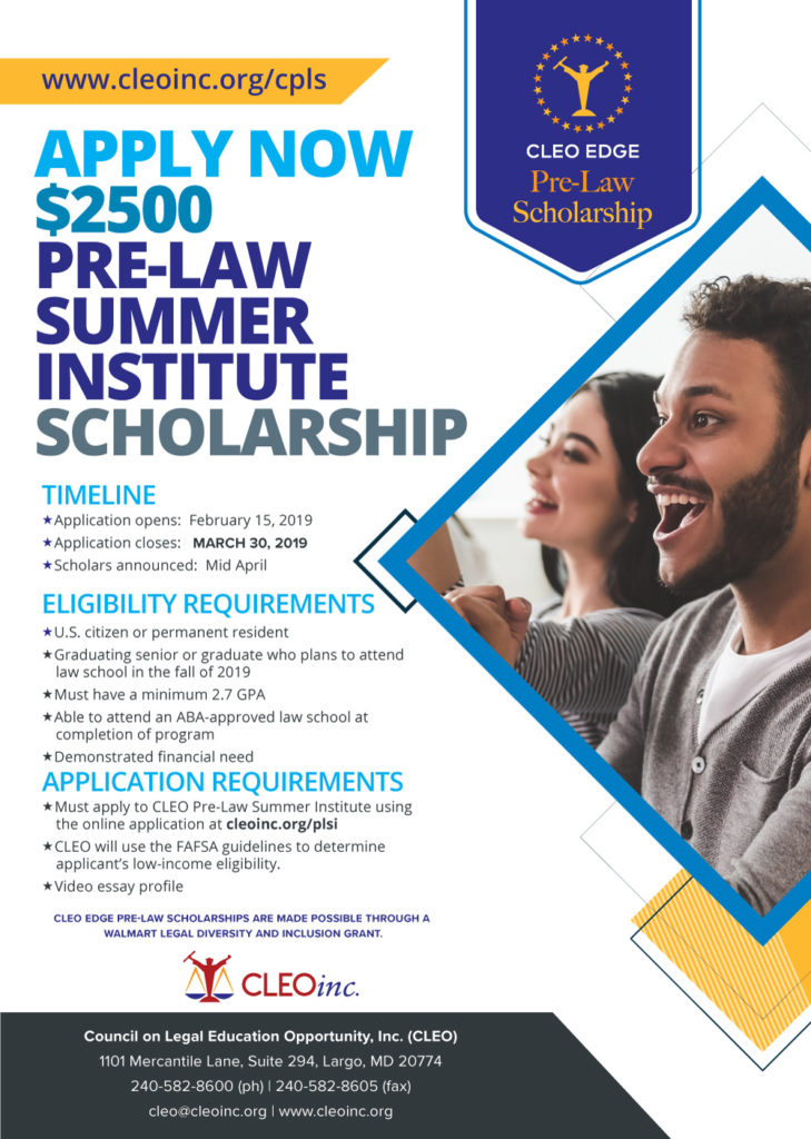 CLEO EDGE Pre-Law Scholarship   CLEO